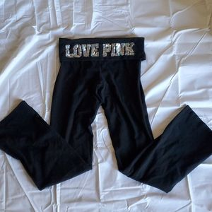 PINK by VS Yoga Pants with Bling Waistband